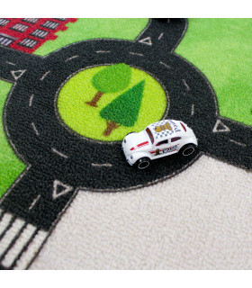 Tappeto da gioco per Bambini modello ROAD DIGITAL  - AEREOPORTO dettaglio car