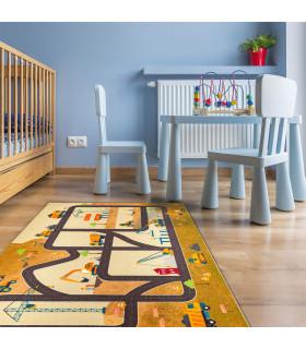 Tappeto da gioco per Bambini cantiere