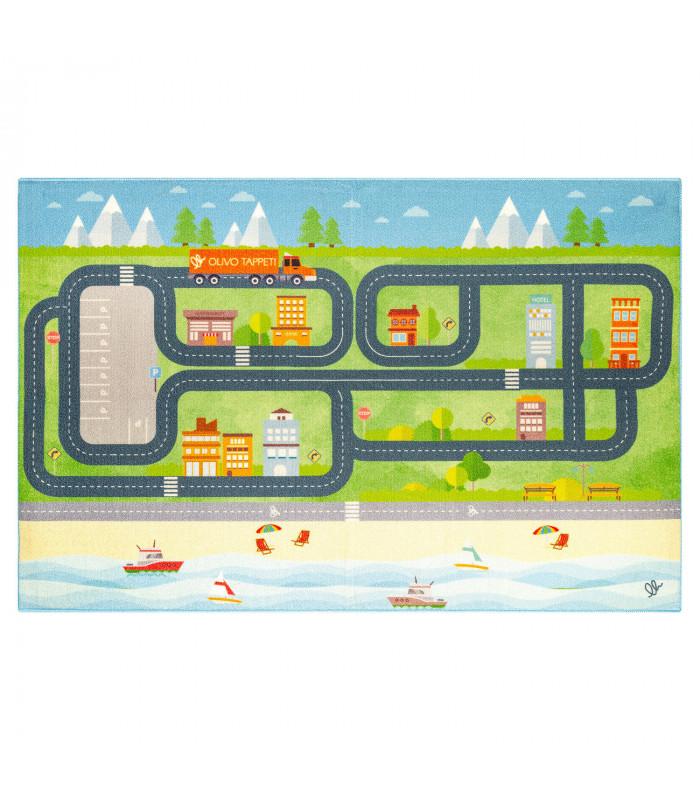 Tappeto da gioco per Bambini modello ROAD DIGITAL - CITTA'