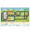 ROAD DIGITAL - CITTA', Tappeto da gioco per Bambini con stampe ad alta risoluzione, misure assortite.