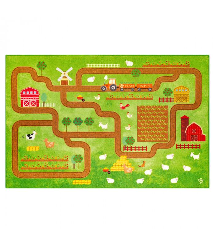 Tappeto da gioco per Bambini modello ROAD DIGITAL - FATTORIA