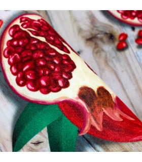 Tappeto cucina mod. MIAMI passatoia disegno digitale antiscivolo varie misure variante MELOGRANO dettaglio