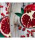 Tappeto cucina mod. MIAMI passatoia disegno digitale antiscivolo varie misure variante MELOGRANO particolare