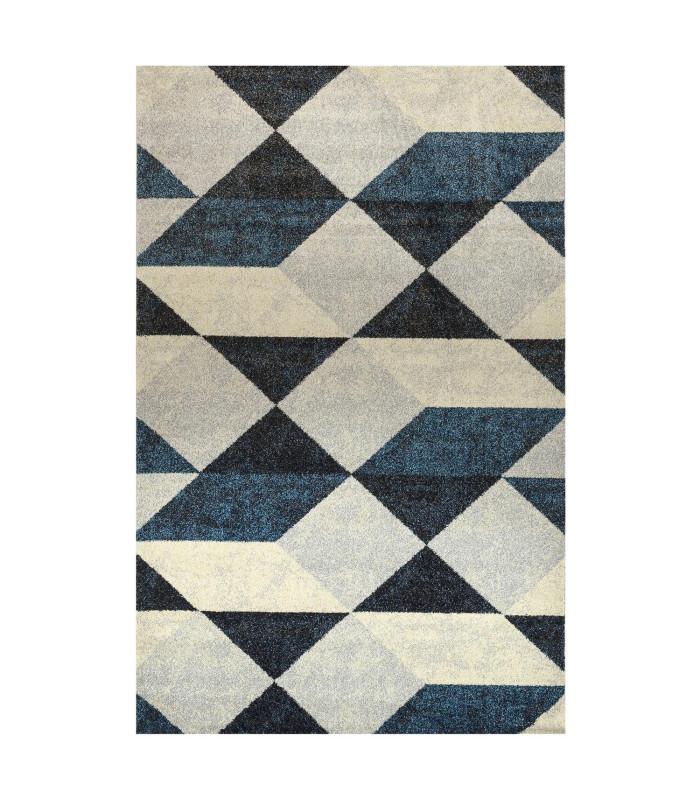Design carpet model Art Geometric Blue
