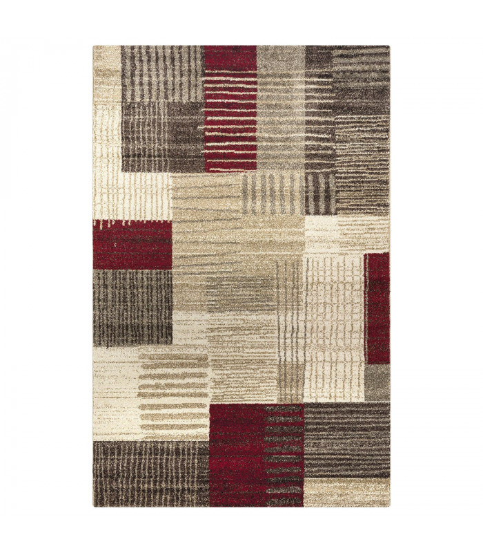 Tappeto design model Art Geometric Red-Brown