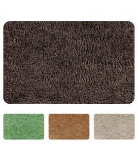 NUVOLA Tappeto da bagno in morbida microfibra con antiscivolo, vari colori e misure - marrone