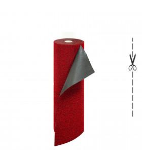 Zerbino in Cocco Sintetico su Misura Spessore 5 mm. Zerbino Tinta Unita Melange red