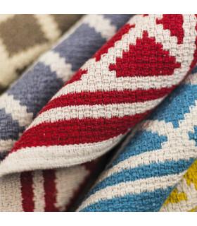 Dettaglio MELODY tappeto multiuso 100% cotone colore azzurro