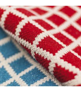 Dettaglio MELODY tappeto multiuso 100% cotone colore rosso