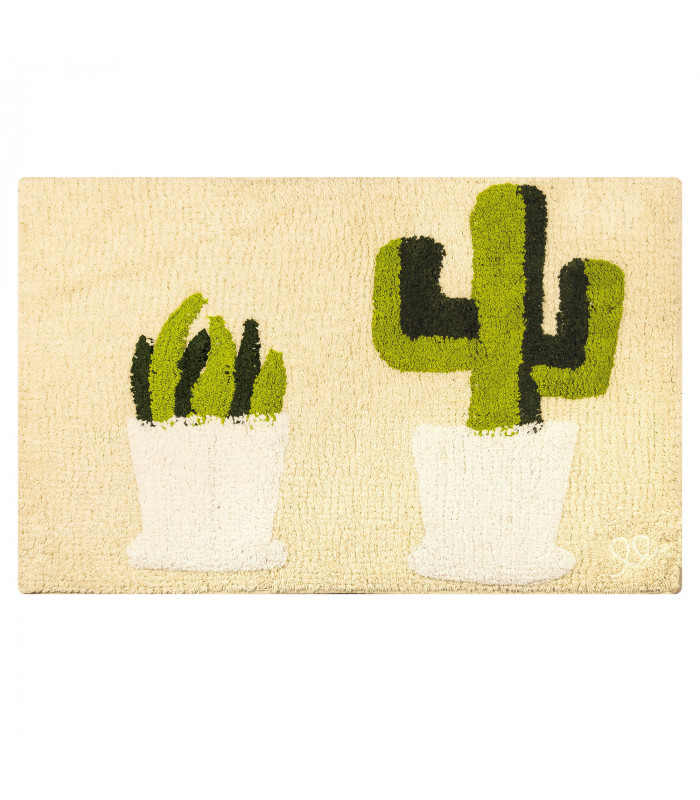 Splash Tappeto bagno ULTRA SOFT 100% COTTON HIGH QUALITY - varie misure variante CACTUS