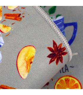 Tappeto cucina modello MIAMI passatoia disegno digitale antiscivolo varie misure variante BREAKFAST zoom