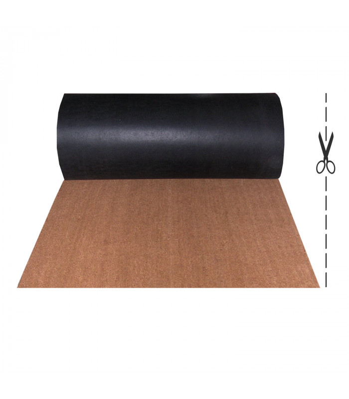 COCONUT ROLL 2m - Doormat in natural coconut fiber, captures dirt. Made to measure, for entrance.