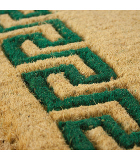 Detail of the printed coconut doormat