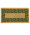 IMPERIALE - Natural coconut doormat 4 cm high, hand-woven, green corrugated, 4 sizes