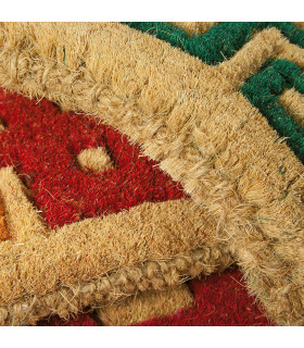 Detail of the printed Imperial natural coconut doormat