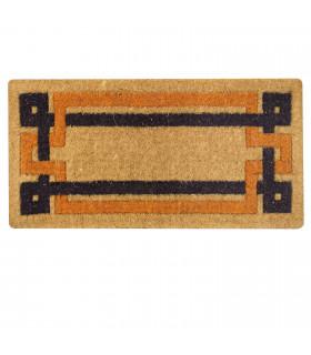 IMPERIAL doormat in natural coconut fiber printed