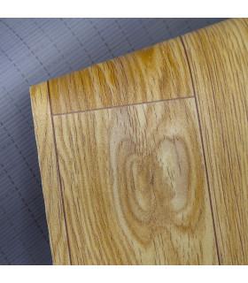 VINILE - Parquet Beige, rotolo ad effetto legno. Facile da tagliare dettaglio fondo
