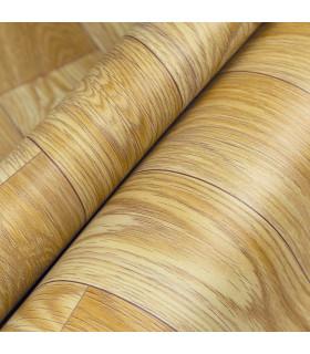 VINILE - Parquet Beige, rotolo ad effetto legno. Facile da tagliare dettaglio piega