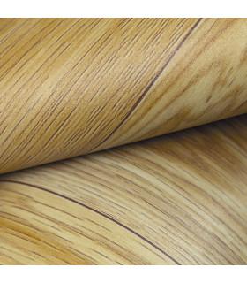 VINILE - Parquet Beige, rotolo ad effetto legno. Facile da tagliare dettaglio piega 2