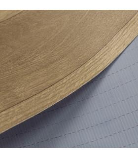 VINILE - Dark Brown rotolo ad effetto legno, facile da tagliare dettaglio fondo