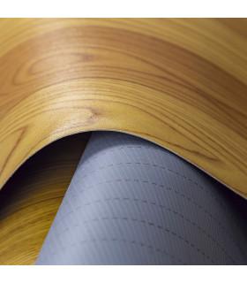 VINILE - Parquet Brown rotolo ad effetto legno, facile da tagliare dettaglio fondo