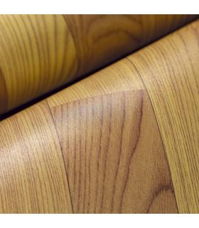 VINILE - Parquet Brown rotolo ad effetto legno, facile da tagliare dettaglio piega