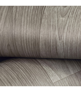 VINILE - Parquet Grey rotolo ad effetto legno, facile da tagliare dettaglio piega