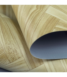 VINILE - Parquet Spina, rotolo ad effetto legno. Facile da tagliare dettaglio 1