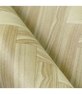 VINILE - Parquet Spina, rotolo ad effetto legno. Facile da tagliare dettaglio piega