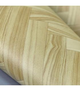 VINILE - Parquet Spina, rotolo ad effetto legno. Facile da tagliare dettaglio spina