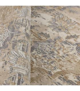 Opera tappeto di arredamento classico con disegni a livello varie misure variante MELANGE FLORAL particolare