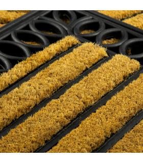 MARTE zerbino cocco inciso gomma tappeto esterno UNICA MISURA rettangolare o mezzaluna - dettaglio