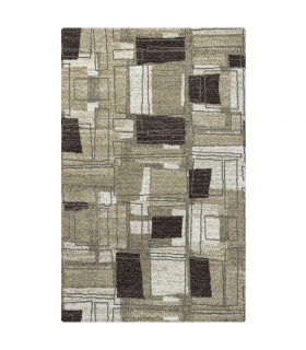 ART tappeto arredamento design moderno variante SHAPE BROWN-BEIGE
