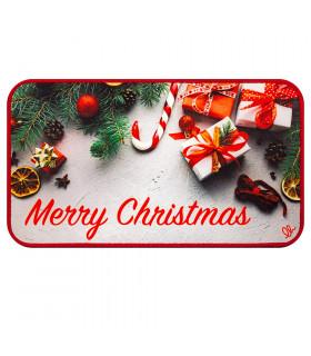 CHRISTMAS DIGITAL tappeto multiuso natalizio con disegno digitale misura unica