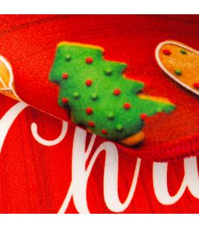 CHRISTMAS DIGITAL tappeto multiuso natalizio con disegno digitale misura unica - dettaglio