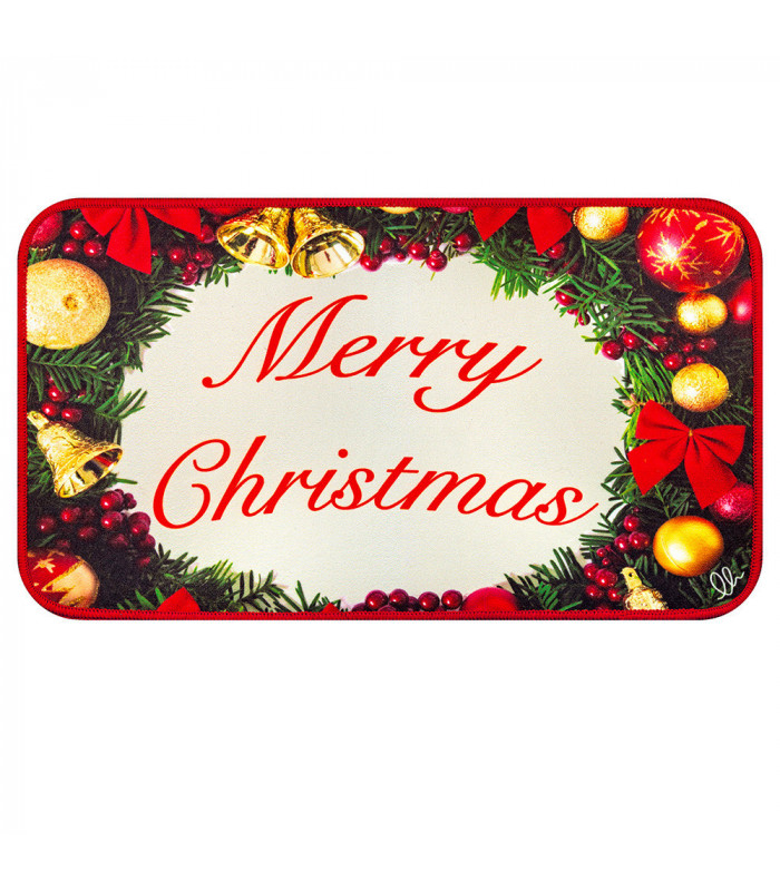 CHRISTMAS DIGITAL multi-purpose Christmas rug with one-size digital design