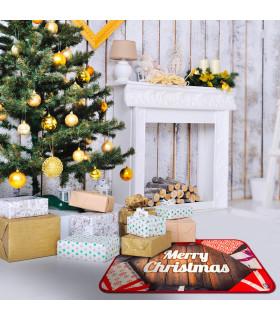 CHRISTMAS DIGITAL tappeto multiuso natalizio con disegno digitale misura unica - panoramica