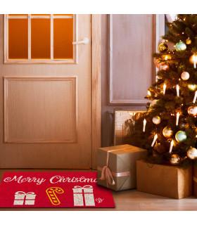 CHRISTMAS GLITTER zerbino natalizio unica misura ambientata