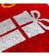 CHRISTMAS GLITTER - Merry Gift, zerbino natalizio in cocco con stampe glitter dettaglio stampa