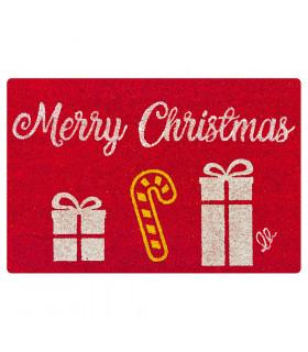 CHRISTMAS GLITTER - Merry Gift, zerbino natalizio in cocco con stampe glitter
