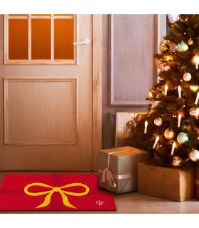 CHRISTMAS GLITTER - Fiocco, zerbino natalizio in cocco con stampe glitter ambientata