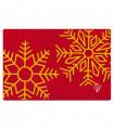 CHRISTMAS GLITTER - Fiocchi di neve, zerbino natalizio in cocco con stampe glitter