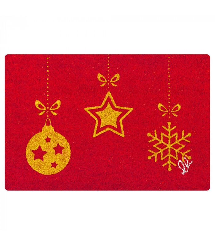 CHRISTMAS GLITTER doormat one size various variants