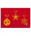 CHRISTMAS GLITTER - Addobbi, zerbino natalizio in cocco con stampe glitter