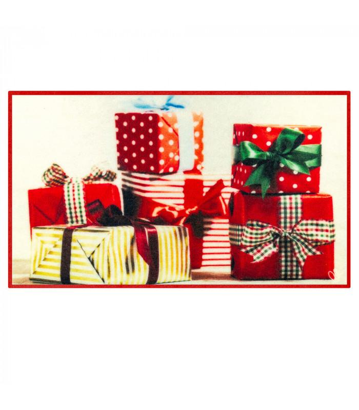 CHRISTMAS PARTY- Regali, tappetino antiscivolo da interno ed esterno con stampe natalizie in alta risoluzione