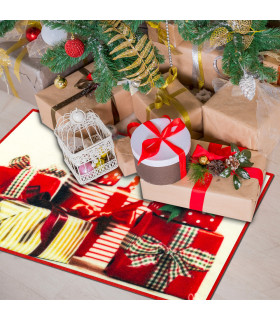 CHRISTMAS PARTY- Gifts, non-slip Christmas mat for indoor and outdoor ambient
