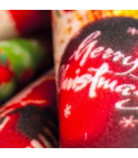 CHRISTMAS PARTY- Regali, tappetino antiscivolo da interno ed esterno con stampe natalizie in alta risoluzione dettaglio