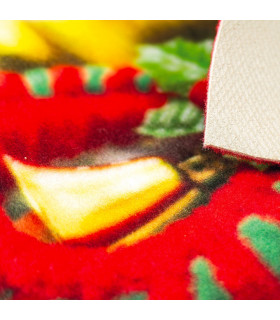 CHRISTMAS PARTY - Merry Gift, tappetino antiscivolo da interno ed esterno con stampe natalizie in alta risoluzione dettaglio