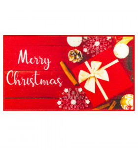 CHRISTMAS PARTY - Merry Gift, indoor and outdoor non-slip mat with high resolution Christmas prints