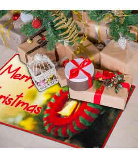 CHRISTMAS PARTY - Ghirlanda, tappetino natalizio antiscivolo da interno ed esterno ambientata